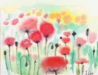 POPPY FIELD, TUSCANY by Judith Lee at Ross's Auctions