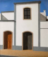 TOWN HOUSES, PORTUGAL by William McKee Strong at Ross's Auctions