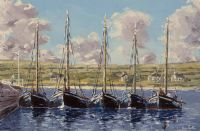 GALWAY HOOKERS, KILRONON by Ivan Sutton at Ross's Auctions