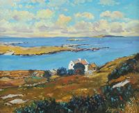 ABOVE DOG'S BAY, CONNEMARA by Fergal Flanagan at Ross's Auctions