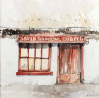 DAVID RODGER'S SHOP, CULLYBACKEY by Barbara Allen RUA at Ross's Auctions