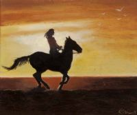 HORSE & RIDER by K. Stuart at Ross's Auctions