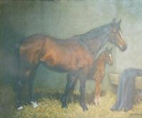 MARE & FOAL by John Snee at Ross's Auctions