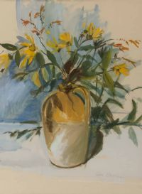 VASE OF FLOWERS by Celia Stephens at Ross's Auctions