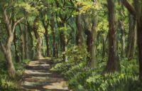 THE PATH TO CLOUGHMORE, ROSTREVOR by Patric Stevenson PPRUA at Ross's Auctions