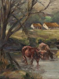 CATTLE WATERING by William Henry Fry at Ross's Auctions