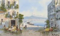 THE COAST NEAR NAPLES by M. Gianni at Ross's Auctions