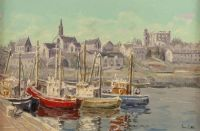 ARDGLASS HARBOUR by Ivan Sutton at Ross's Auctions