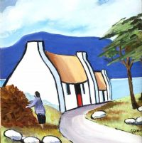 WHITEWASHED COTTAGE by Cecil Geddis at Ross's Auctions