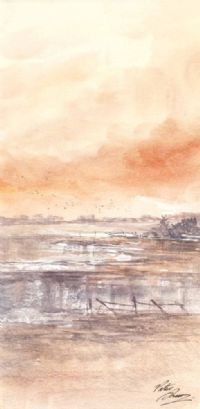WETLANDS BY LOUGH NEAGH by Peter Shaw at Ross's Auctions