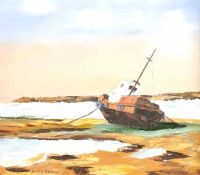 BEACHED BOAT by David Googe at Ross's Auctions