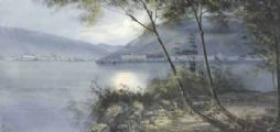 NIGHTFAL, THE BAY OF NAPLES by M. Gianni at Ross's Auctions