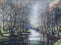 WINTER SUNSHINE, SHAW'S BRIDGE by Dennis Arnold at Ross's Auctions