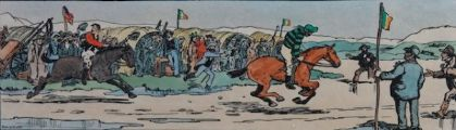 THE STRAND RACES, THE FINISH by Jack Butler Yeats RHA at Ross's Auctions