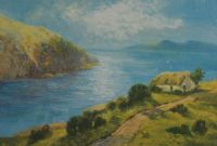 THATCHED COTTAGE BY THE SEA by Daniel Sherrin at Ross's Auctions