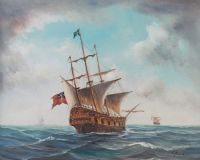 TALL SHIP by Paul Greer at Ross's Auctions