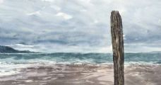 DESERTED BEACH by Peter Shaw at Ross's Auctions