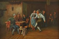 TAVERN INTERIOR by German School at Ross's Auctions