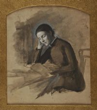 GIRL READING by Robert Catterson Smith at Ross's Auctions