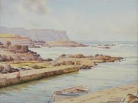DUNSEVERICK HARBOUR by Alymer E. Armstrong UWS at Ross's Auctions