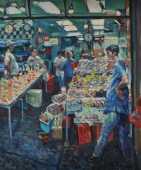 CHINESE FISHMONGERS by Hector McDonnell ARUA at Ross's Auctions
