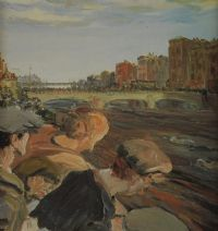 SWIMMING RACE, THE LIFFEY by After Jack B. Yeats RHA at Ross's Auctions