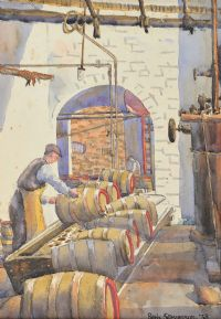 CLEANING BARRELS, WATERFORD by Patric Stevenson PPRUA at Ross's Auctions