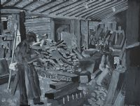 GRANITE WORKERS, SUGAR ISLAND, NEWRY by Patric Stevenson PPRUA at Ross's Auctions