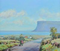 STROLL NEAR FAIRHEAD by Nigel Allison at Ross's Auctions