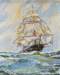 TALL SHIP by Leslie Julier at Ross's Auctions