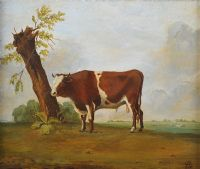 BULL & LANDSCAPE by English School at Ross's Auctions
