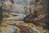 WINTER SCENE by Frederick William Hull RUA at Ross's Auctions