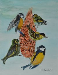 BIRDS FEEDING by Patricia Henry at Ross's Auctions