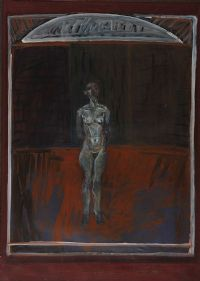 STANDING FIGURE, DUBLIN by Brian Bourke RHA at Ross's Auctions