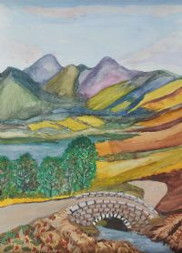 BRIDGE & LANDSCAPE by Patricia Henry at Ross's Auctions