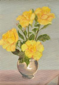 YELLOW ROSES by Patricia Henry at Ross's Auctions
