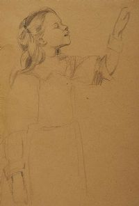 GIRL SKETCHING by Mabel Allington Royds at Ross's Auctions