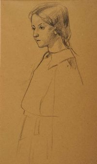 GIRL STANDING by Mabel Allington Royds at Ross's Auctions