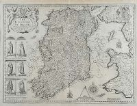 THE KINGDOM OF IRELAND (17th CENTRUY MAP) by John Speede at Ross's Auctions