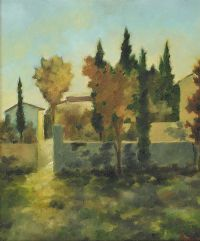 TREES & FARM BUILDINGS by Anux at Ross's Auctions