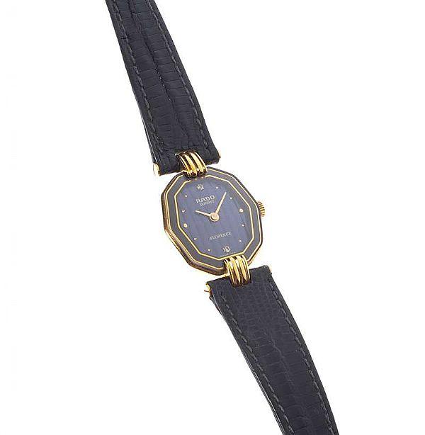 rado quartz ladys wrist watch with leather strap