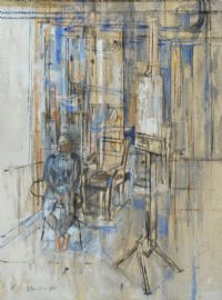 ANNA IN THE STUDIO by Basil Blackshaw HRHA HRUA at Ross's Auctions