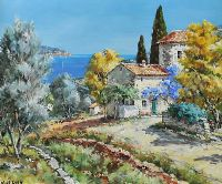 MEDITERRANEAN GARDEN by Nicole Le Guen at Ross's Auctions