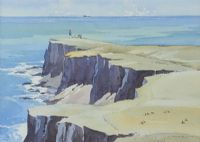 EAST LIGHT, RATHLIN by Garth Giffin at Ross's Auctions