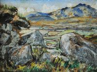 SLIEVE BINNIAN by Patric Stevenson PPRUA at Ross's Auctions