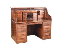 VICTORIAN MAHOGANY ROLL TOP DESK at Ross's Auctions