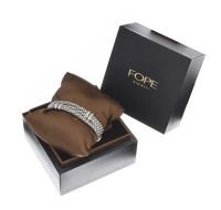 FOPE 18CT WHITE GOLD DIAMOND BRACELET at Ross's Auctions