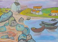 HARBOUR, WEST OF IRELAND by Gerard Dillon at Ross's Auctions