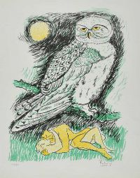 LOVERS & OWL by Basil Ivan Rakoczi at Ross's Auctions