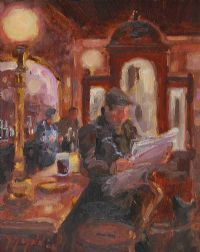 A PINT & A PAPER by Gerry Glynn at Ross's Auctions